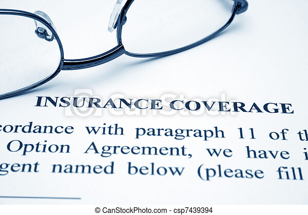 Insurance coverage - csp7439394