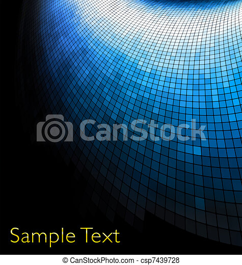 Geometric tech background. Creative background. - csp7439728