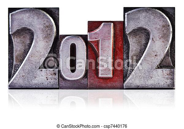 2012 Letterpress - csp7440176
