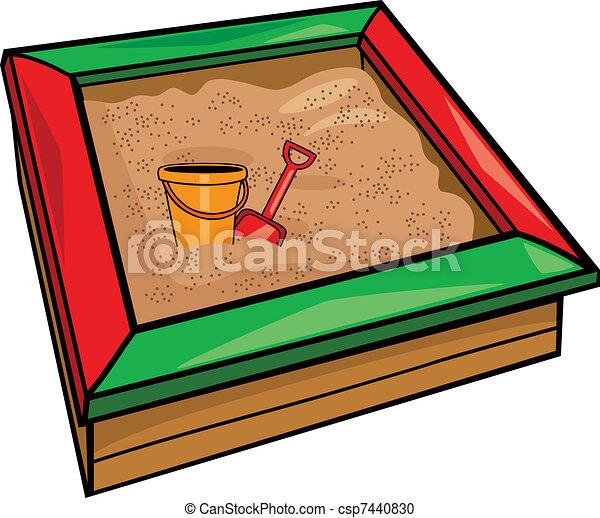 sandbox with toys - csp7440830