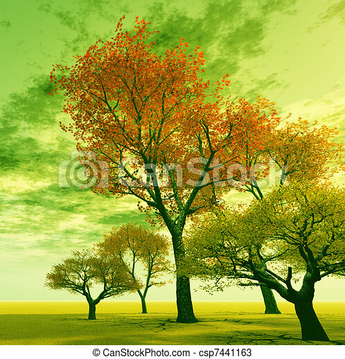 drawings of autumn scenery csp7441163 search clipart
