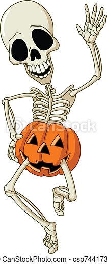 Happy skeleton - csp7441732