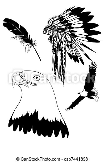 stock illustration of feathers of an eagle headdress of Writer Clip Art Black and White Clip Art Black and White Decision