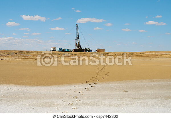 Drilling in the desert. - csp7442302