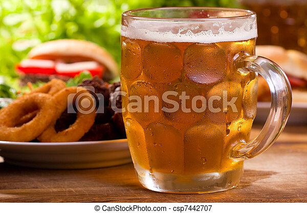 cold mug of beer - csp7442707