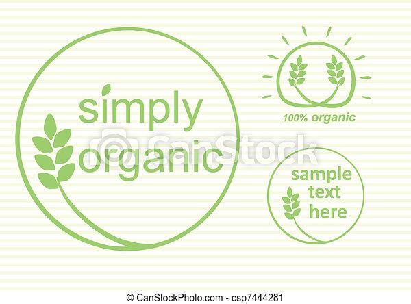 Organic Labels - csp7444281