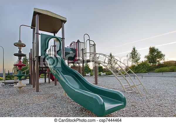 Neighborhood Public Park Children's Playground Gym Structure - csp7444464