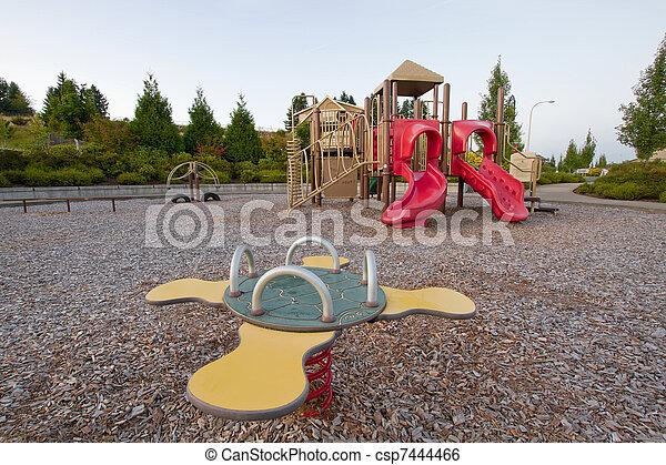 Neighborhood Public Park Children's Playground - csp7444466
