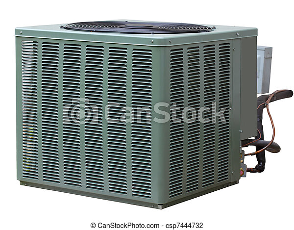 stock photo of central air conditioner residential high. Black Bedroom Furniture Sets. Home Design Ideas