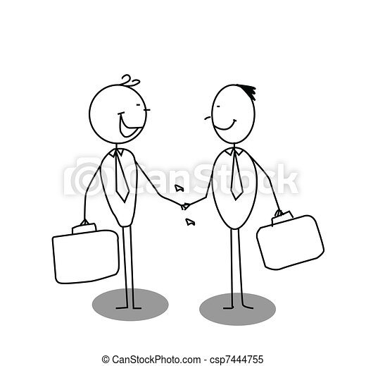 shake a hand business  - csp7444755