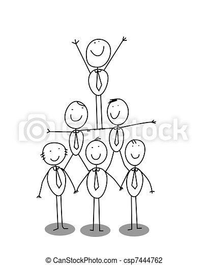 organitation chart teamwork - csp7444762