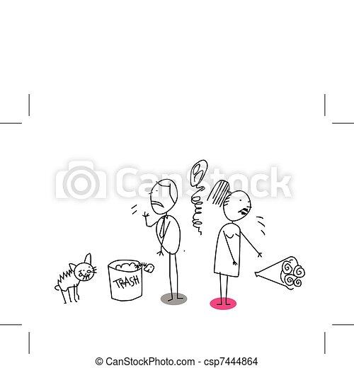 divorce family  - csp7444864