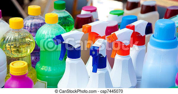chemical products for cleaning chores - csp7445070