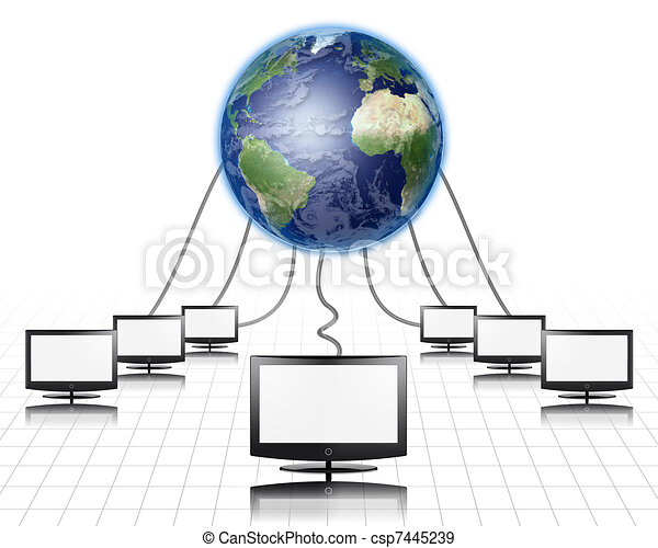World Wide Web Flat Panel Connected - csp7445239