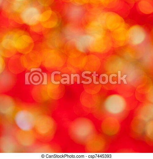 Abstract defocused blur red christmas lights - csp7445393