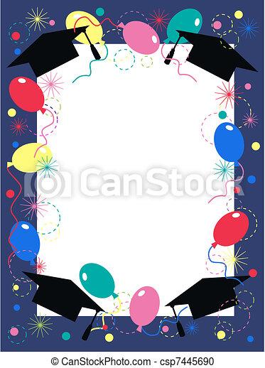 graduation invitation celebration - csp7445690