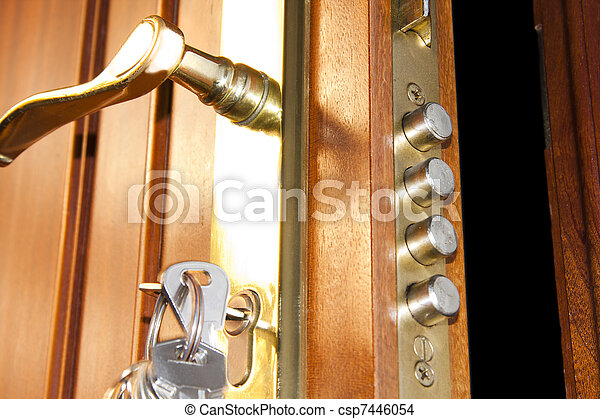door lock home security - csp7446054
