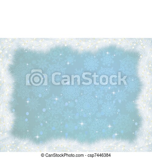 Winter christmas card background. EPS 8 - csp7446384