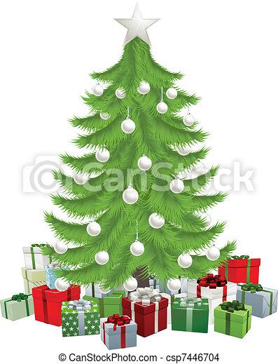 Traditional Christmas Tree - csp7446704