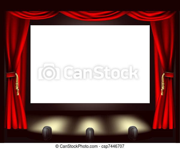 Cinema screen - csp7446707