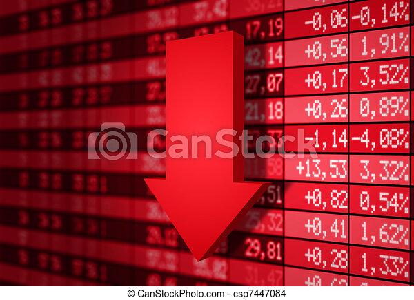 Stock market down - csp7447084