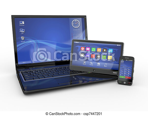 Electronics. Laptop, mobile phone and tablet pc - csp7447201