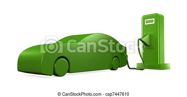 recharging a car - csp7447610