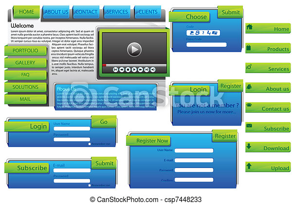 Web Form Template - csp7448233