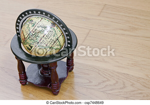 antique globe - csp7448649