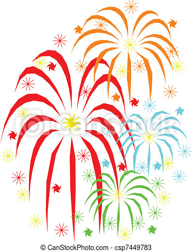 Fireworks holidays celebration  - csp7449783