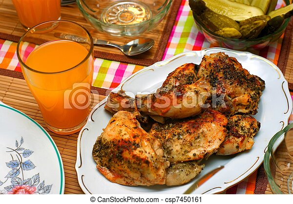 Roast spicy chicken - csp7450161