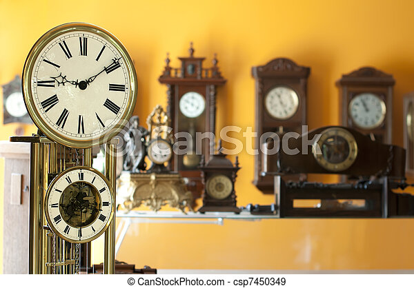 Old antique clocks - csp7450349