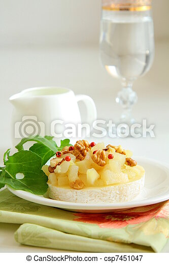appetizer delicacy of pears - csp7451047