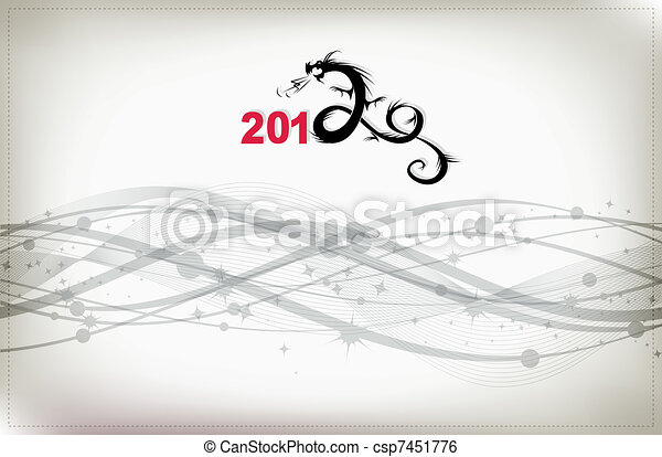 2012 year of dragon, celebration background for your design - csp7451776