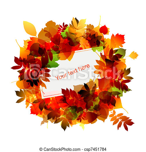 Autumn frame with place for your text - csp7451784