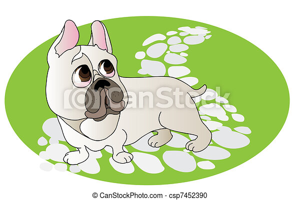 Comical drawing of  French Bulldog - csp7452390