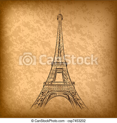 eiffel tower - csp7453202