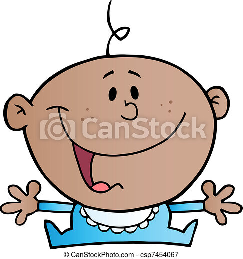 African American Baby Boy - csp7454067