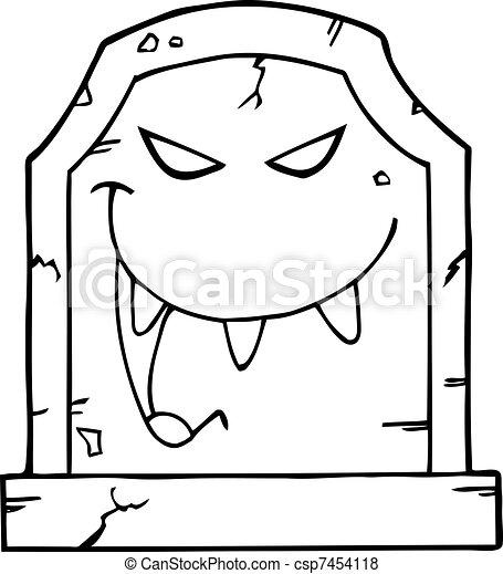 Vecteur esquiss mal pierre tombale banque d 39 illustrations illustrations libres de droits - Pierre tombale dessin ...