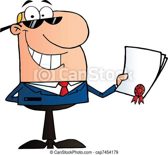Businessman Showing Contract - csp7454179