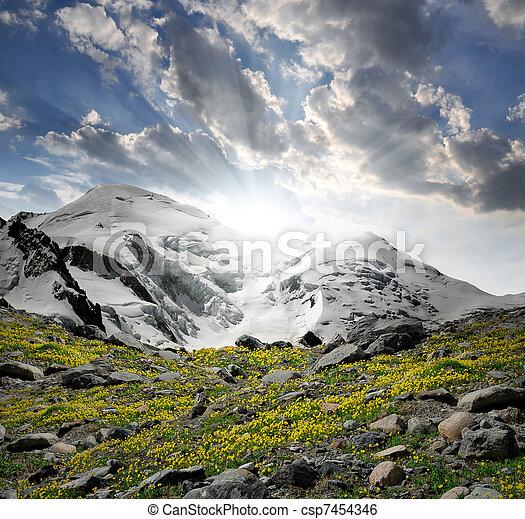 Mont Blanc-Savoy Alps , France  - csp7454346