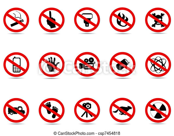 set of prohibited sign - csp7454818