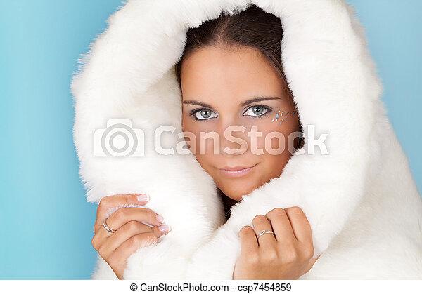 Warm winter coat - csp7454859