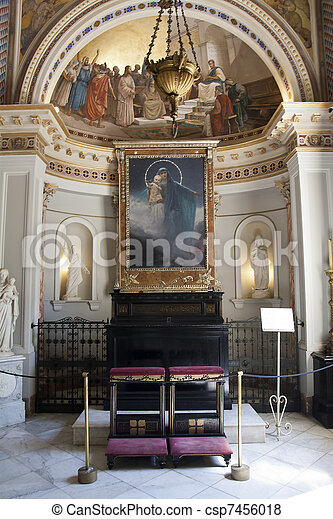 Chapel from Achillion palace - Corfu, Greece  - csp7456018