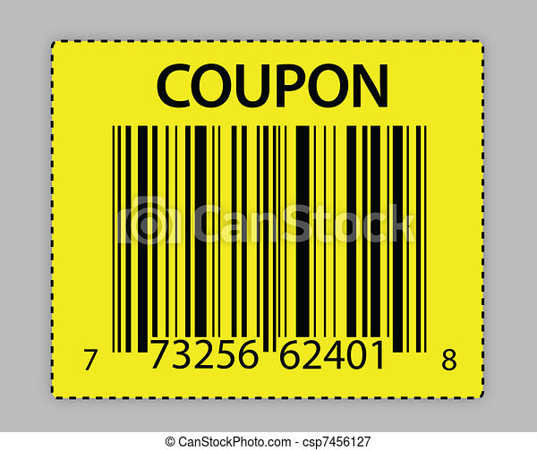 unique barcode coupon illustration - csp7456127