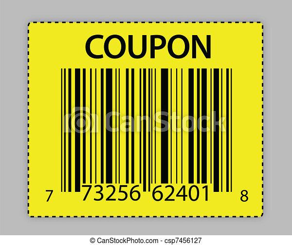 unique barcode coupon illustration  - csp7456127