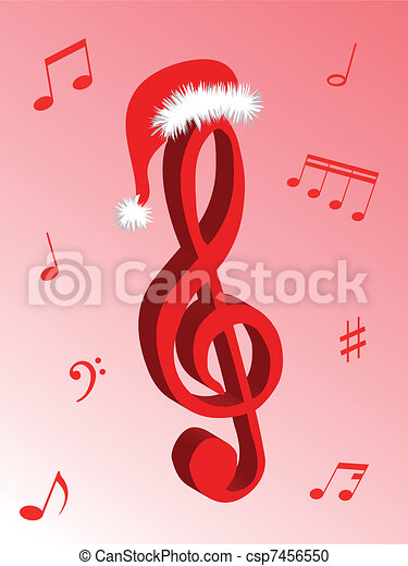 Vector Clipart of Carol Musical Note for Holiday Christmas Music ...