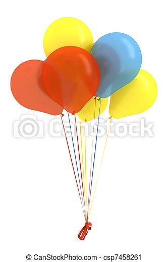 Happy birthday balloons - csp7458261