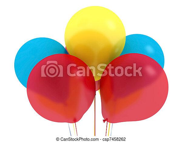 Happy birthday balloons - csp7458262