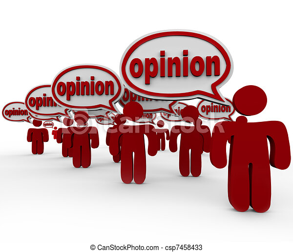 Many People Sharing Opinions Critics Talking Word Opinion - csp7458433